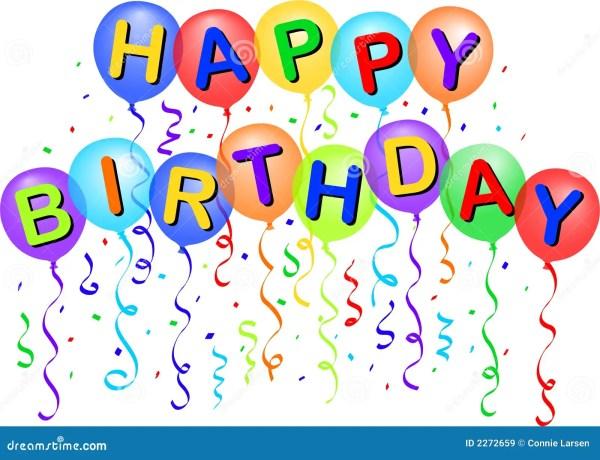 happy birthday balloons eps stock