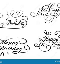 happy birthday calligraphic [ 1300 x 983 Pixel ]