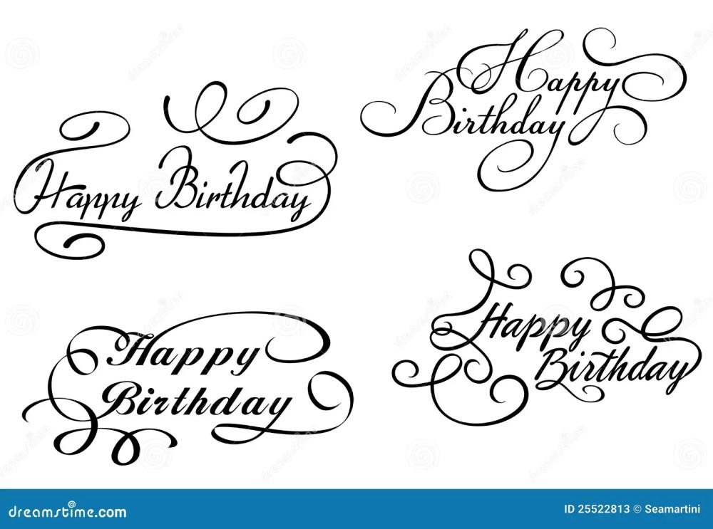 medium resolution of happy birthday calligraphic