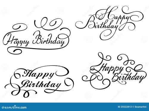 small resolution of happy birthday calligraphic