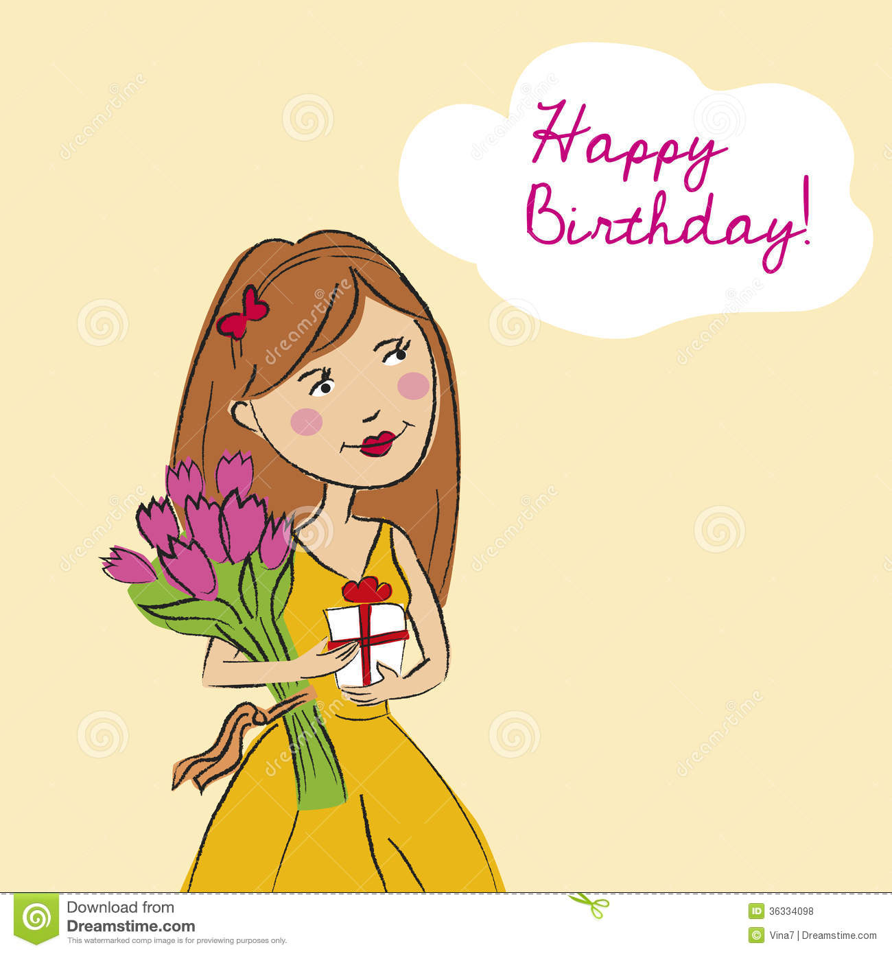 Happy Birthday Card Royalty Free Stock Photos Image