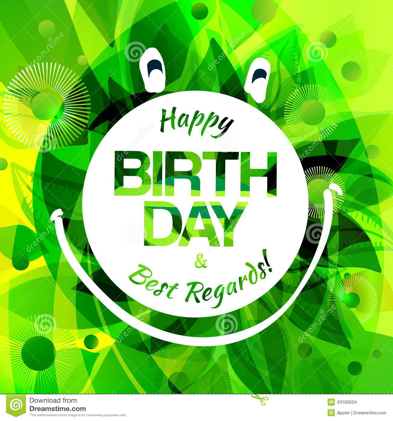 Happy Birthday Card With Frog Label Stock Vector Image