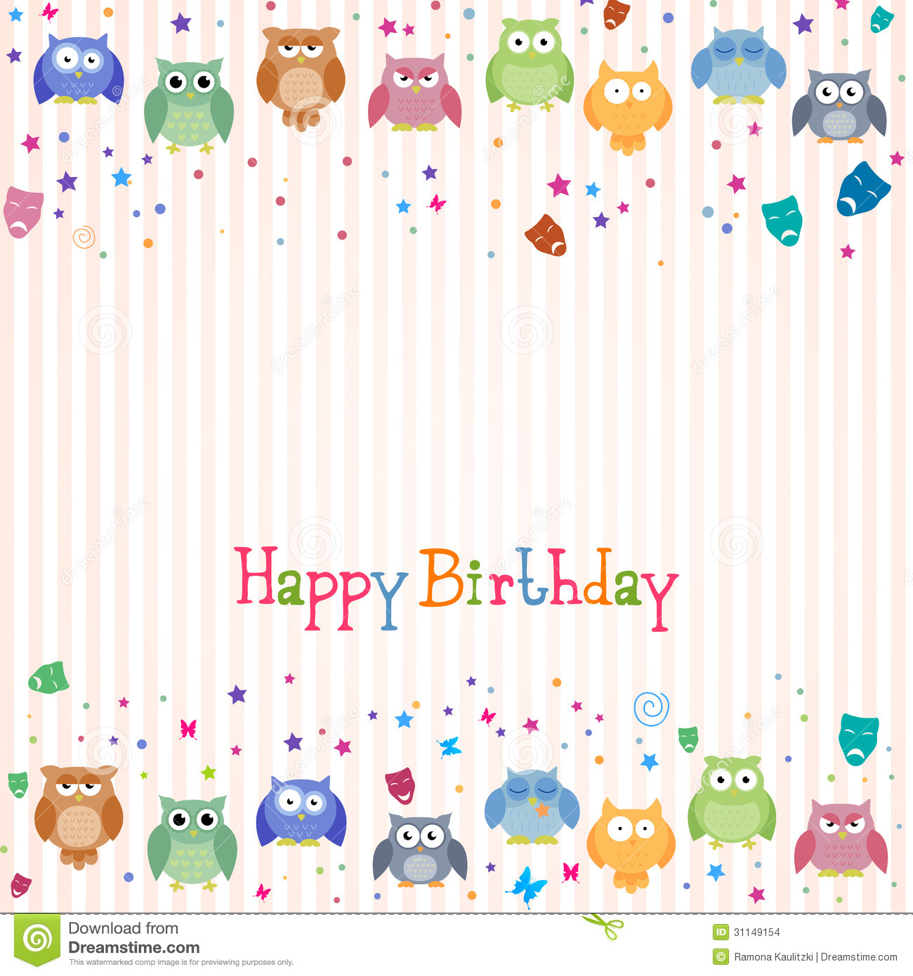 Happy Birthday Card Stock Images Image 31149154