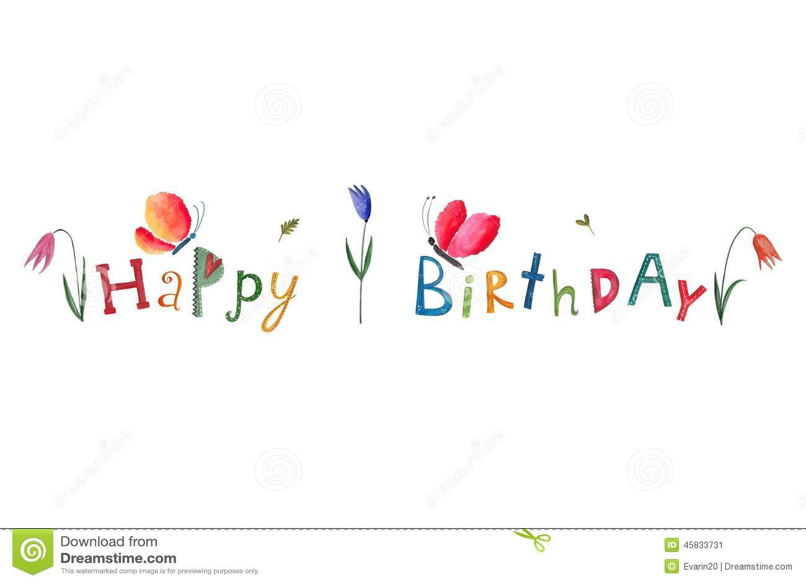 Happy Birthday Greeting Card Stock Illustration Image