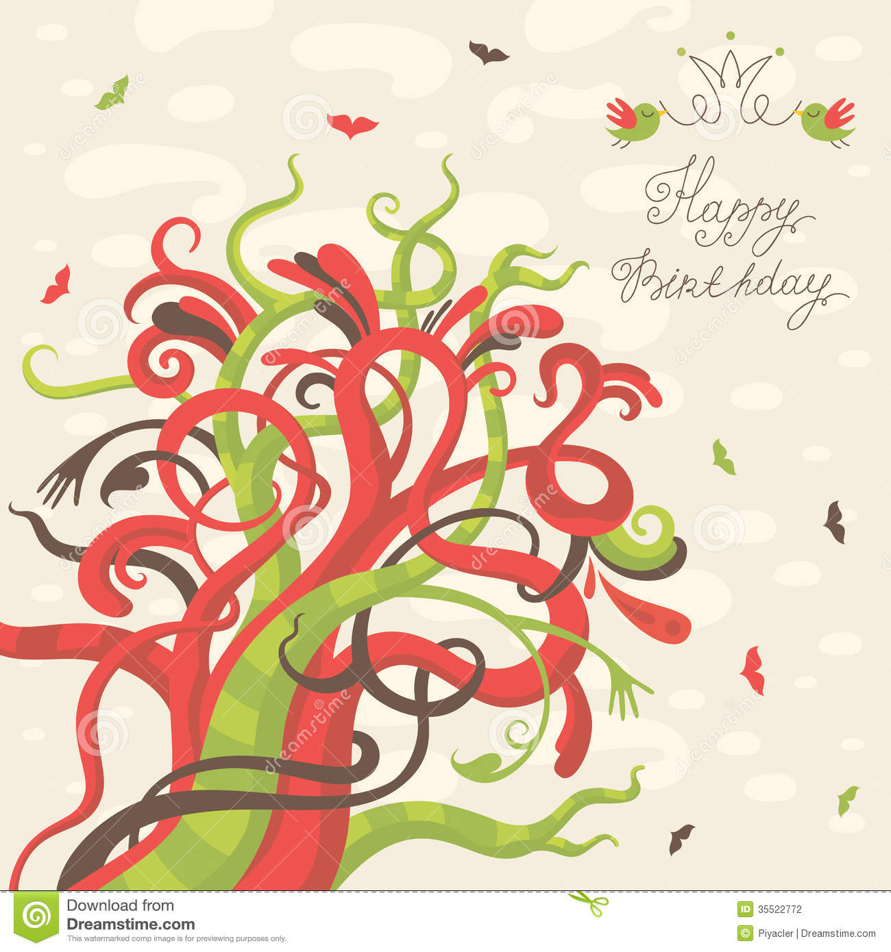 Happy Birthday Greeting Card Stock Photography Image