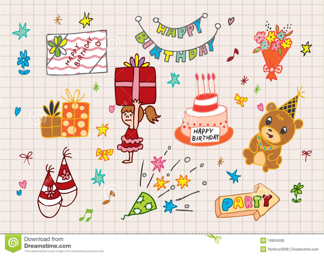 Happy Birthday Icon Royalty Free Stock Photos Image