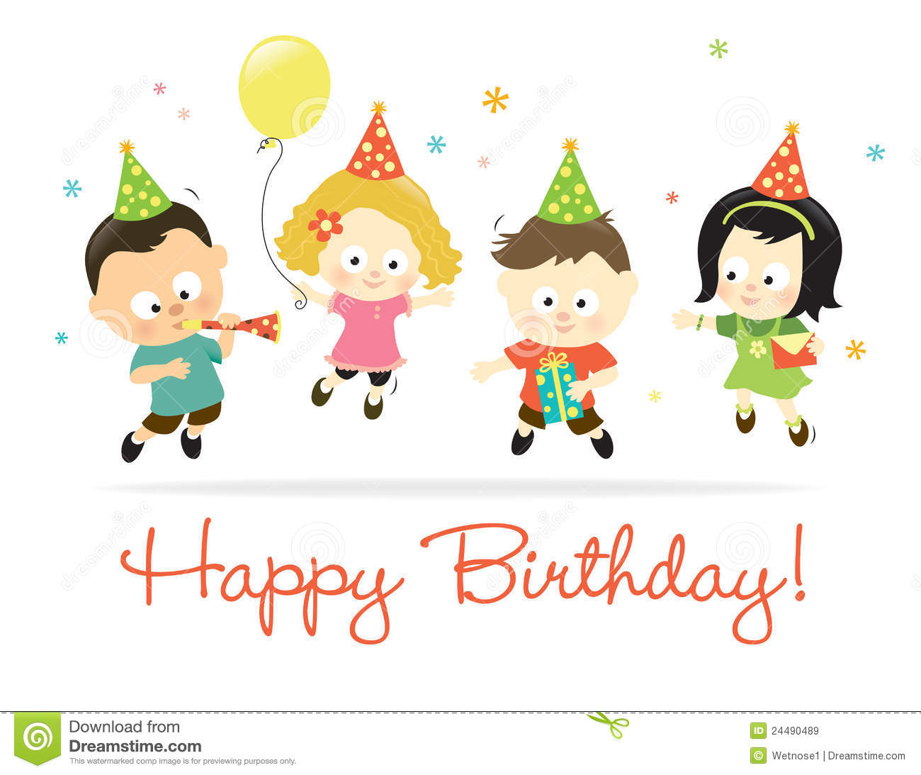 Happy Birthday Kids 2 Royalty Free Stock Images