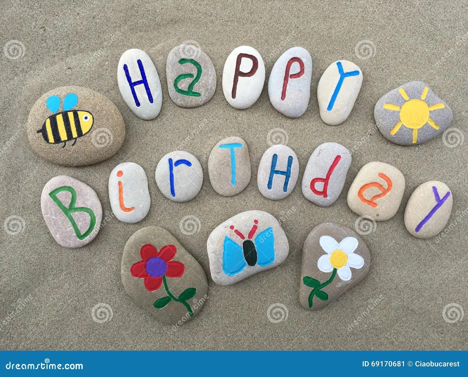 happy birthday message stock