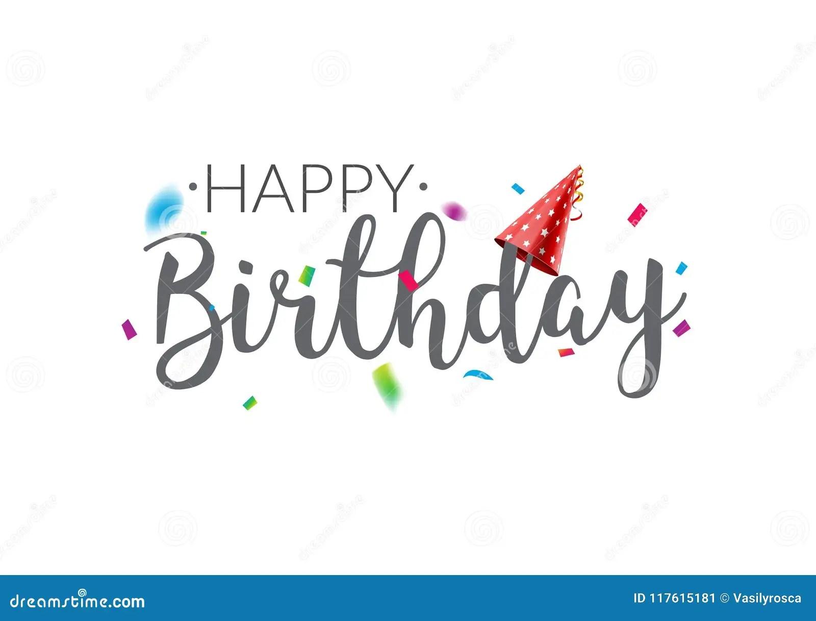 Happy Birthday Typography Vector Design Template Poster