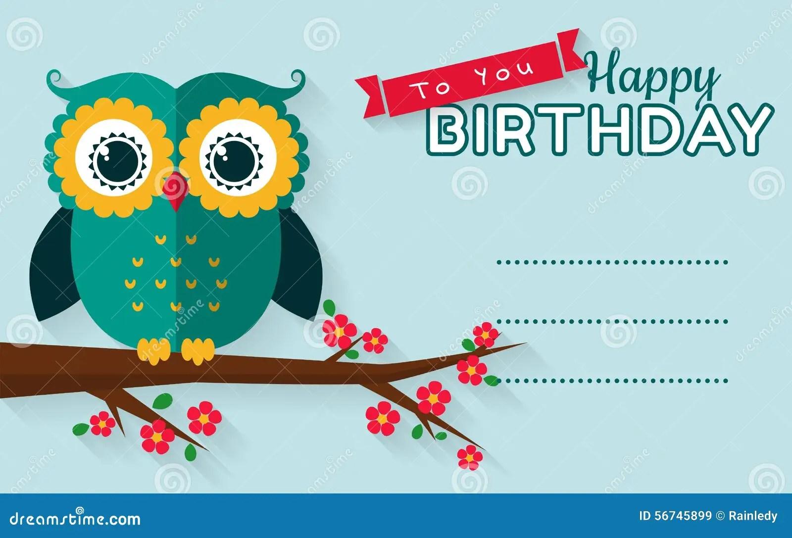 Happy Birthday Vector Greeting Card Stock Vector Image 56745899