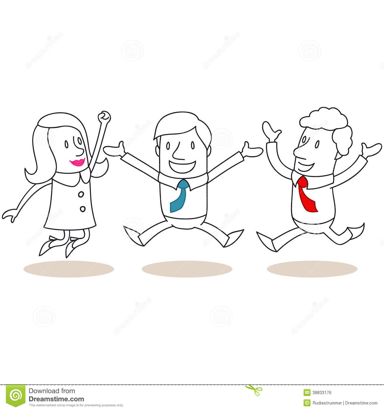 Happy Business People Jumping And Celebrating Stock Vector