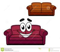 Happy Cartoon Upholstered Couch Stock Vector ...