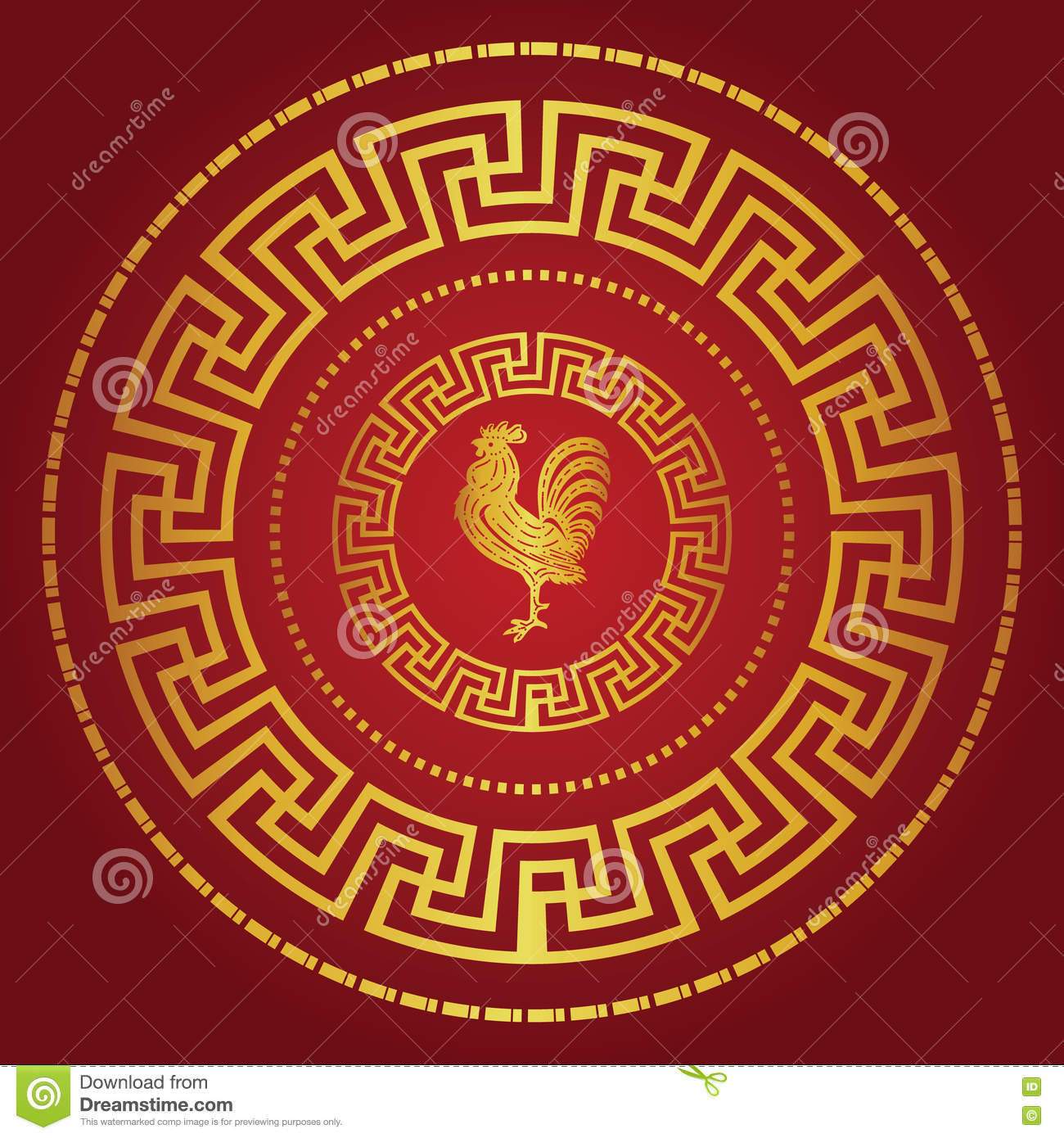 Happy Chinese New Year 2017 The Year Of Chicken And Gold