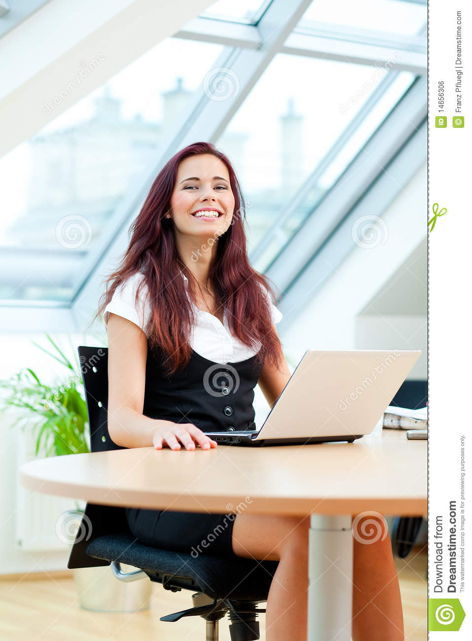 Happy Clerk Royalty Free Stock Image  Image 14656306