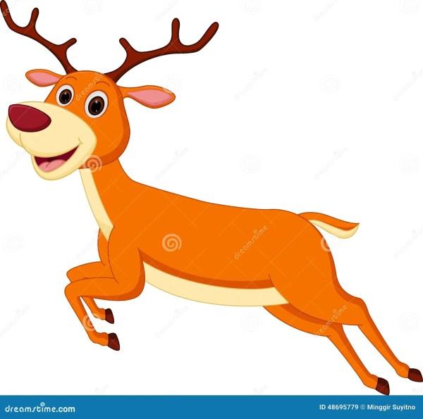 Happy Deer Cartoon Running Stock Vector - 48695779