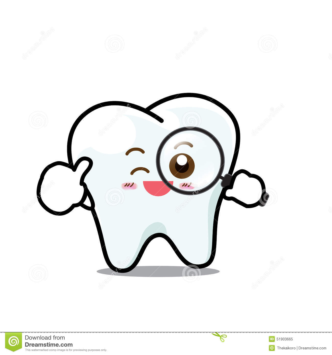 Happy Dental Smile Tooth Mascot Cartoon Character Isolated