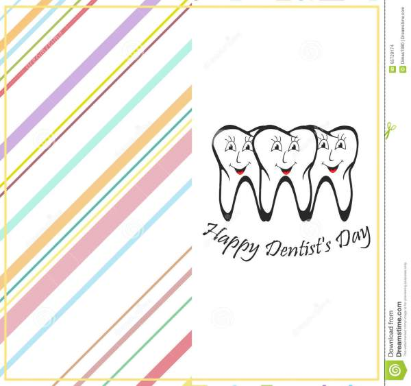 Happy Dentist Day Stock Vector Illustration Of Hygiene