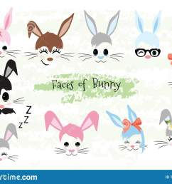 happy easter bunny face clipart brown gray blue pink purple violet bunny animal hipster unicorn little mister miss easter gift [ 1600 x 1155 Pixel ]