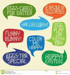 HAPPY EASTER Humorous Phrases On Bubble Speeches Stock Vector Illustration of extra cute: 38815089