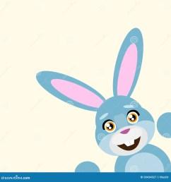 happy easter rabbit smile peep looking from corner vector illustration stock illustration [ 1300 x 1390 Pixel ]