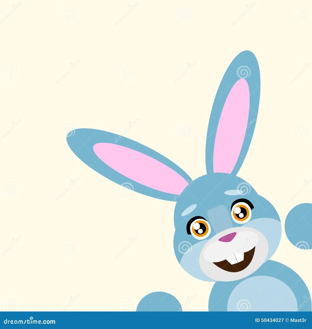 medium resolution of happy easter rabbit smile peep looking from corner vector illustration stock illustration