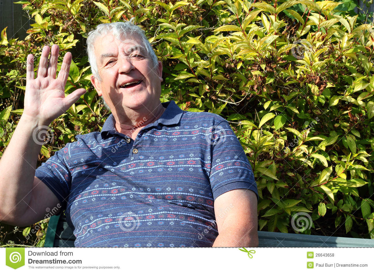 kneeling chair design plans chairs for kids with adhd royalty free stock photos: happy elderly man waving. image: 26643658