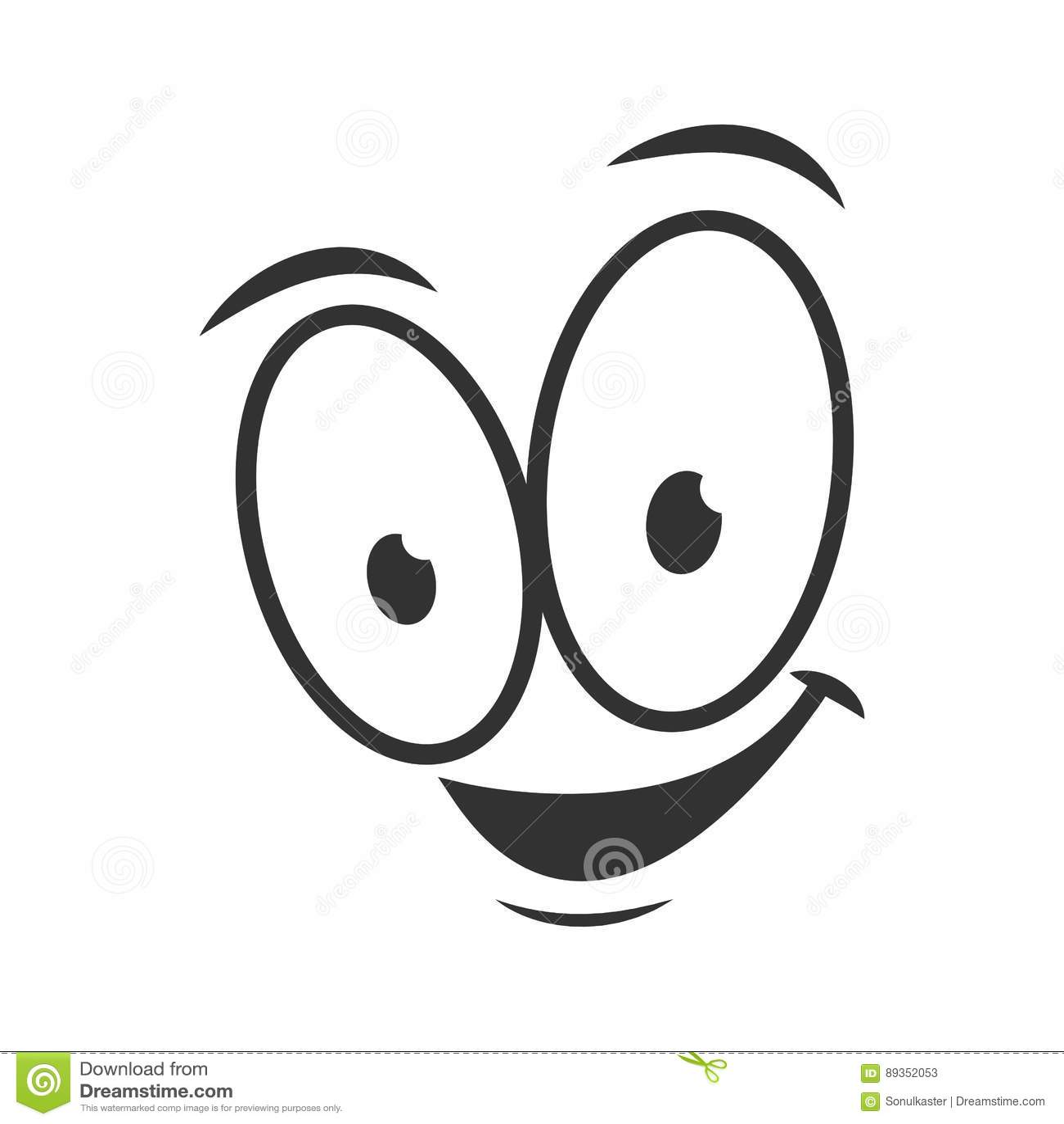 Happy Emotion Icon Logo Design Simple Joyful Cartoon Face