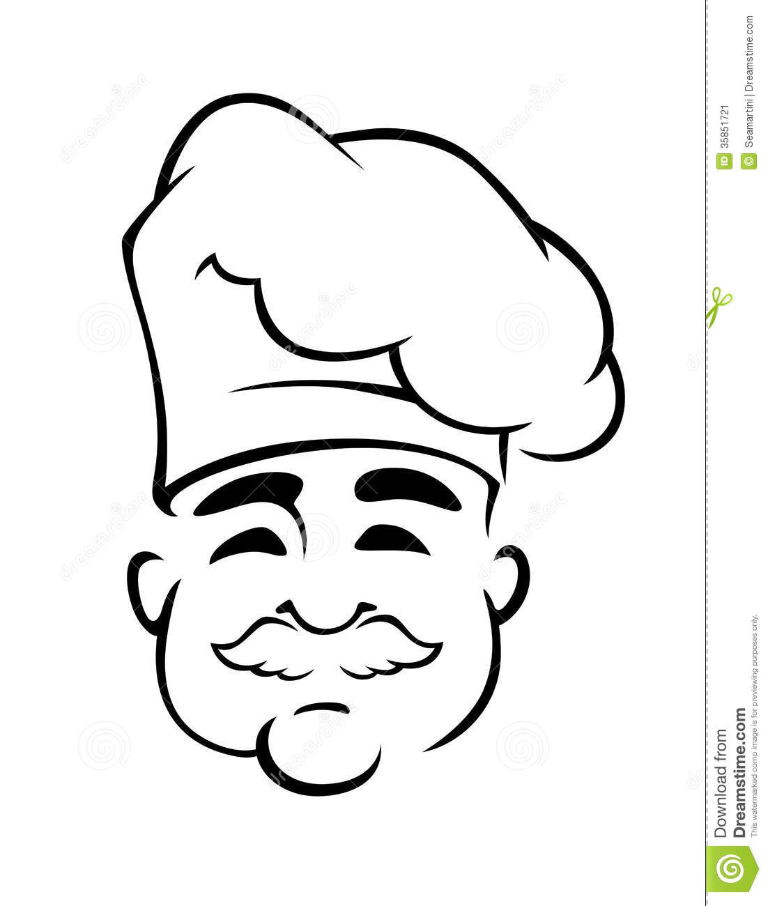 Happy European Chef In Toque Hat Stock Image