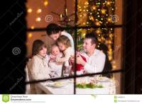 Happy Family At Christmas Dinner Stock Image - Image: 44886451