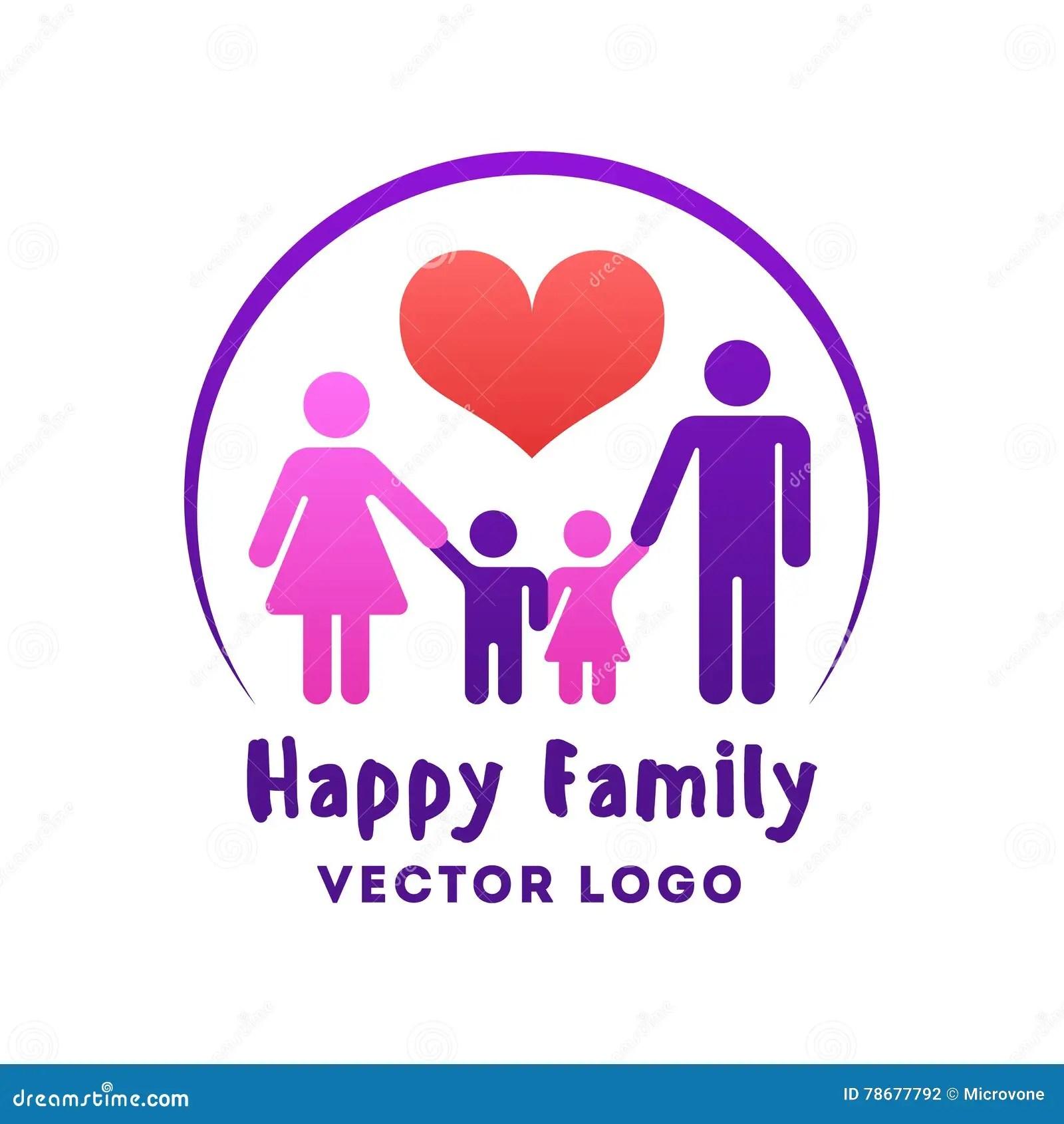 happy family love vector