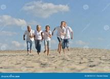 Happy Family Running Stock - 38192113