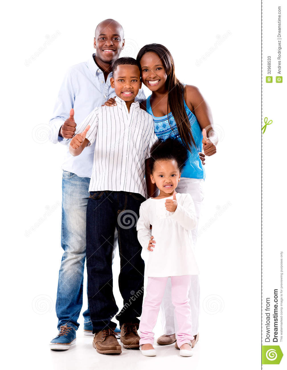 Happy Family With Thumbs Up Stock Image  Image of father