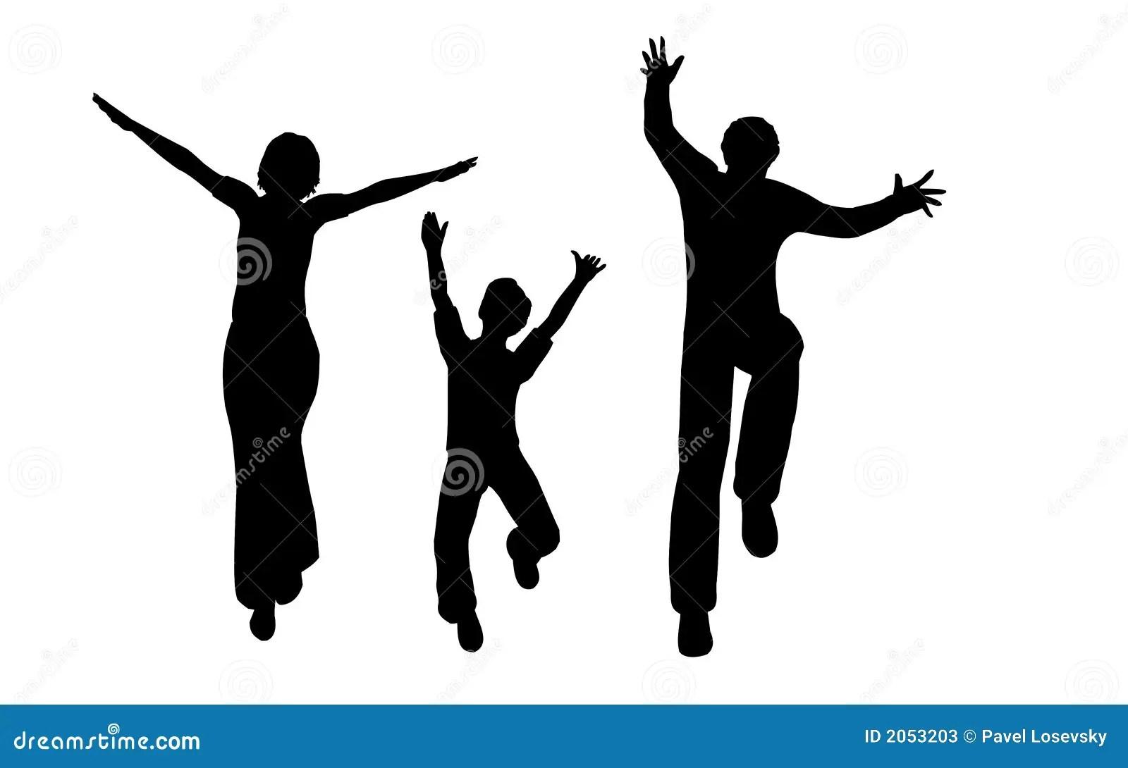 Happy Family Vector Stock Vector Illustration Of Jump