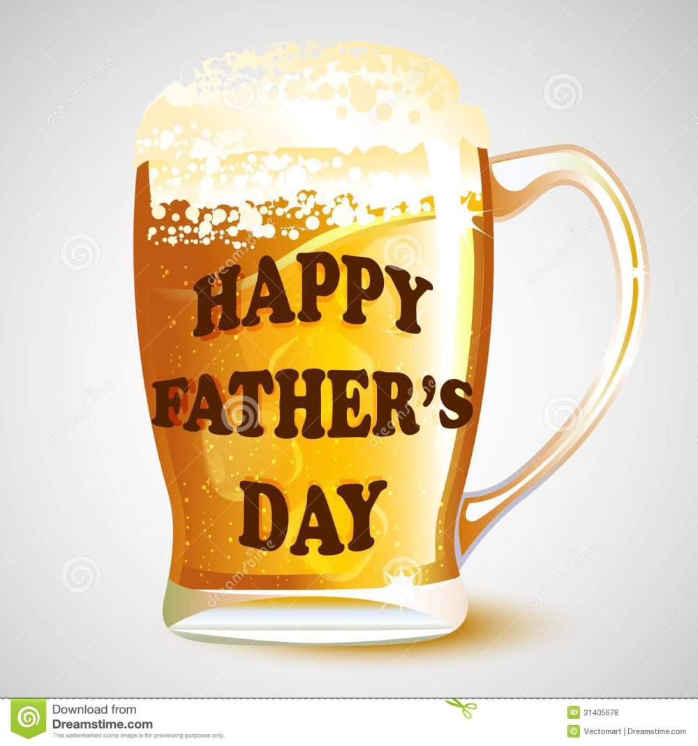 medium resolution of happy father s day message on beer mug