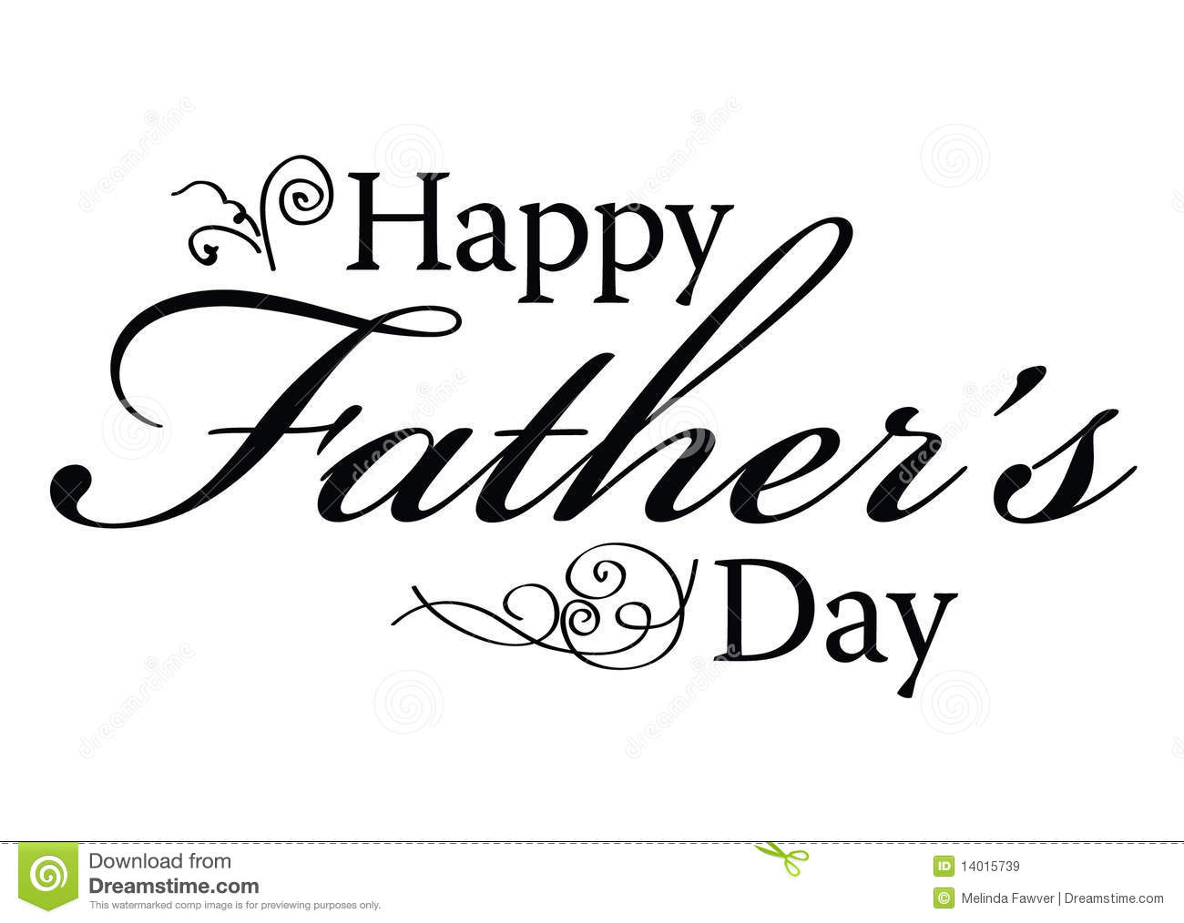 Happy Father S Day Type Stock Vector Illustration Of