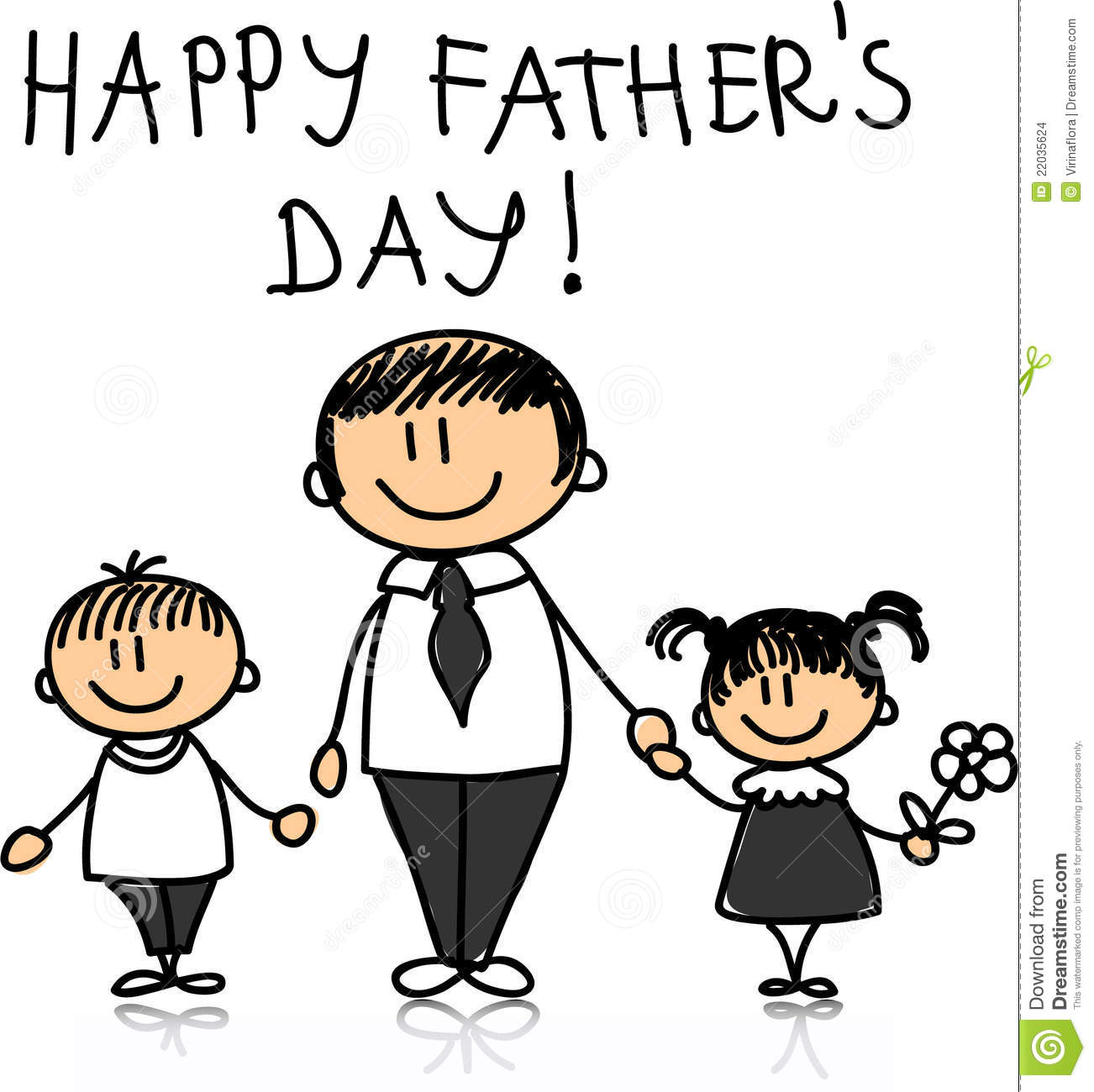 Happy Father S Day Vector Stock Vector Illustration Of
