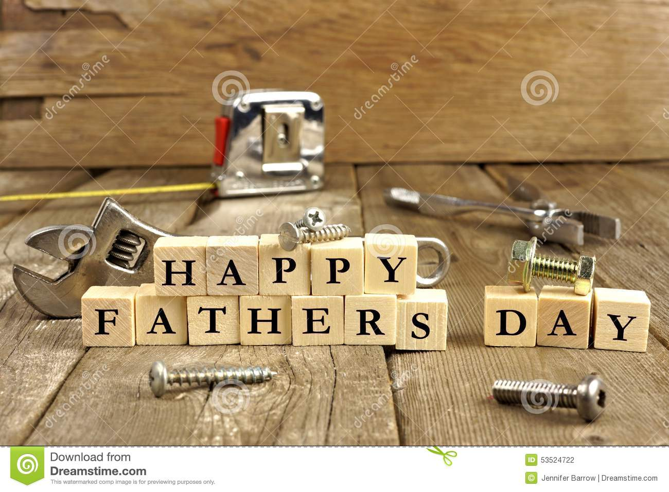 happy fathers day blocks on rustic wood stock photo image of object tape 53524722