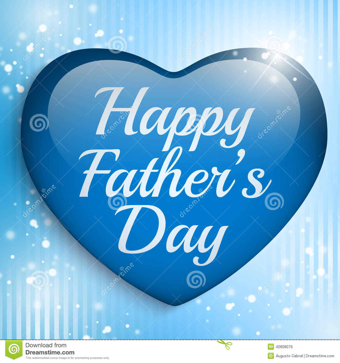 happy fathers day blue