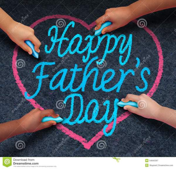 Happy Fathers Day Children Stock Illustration