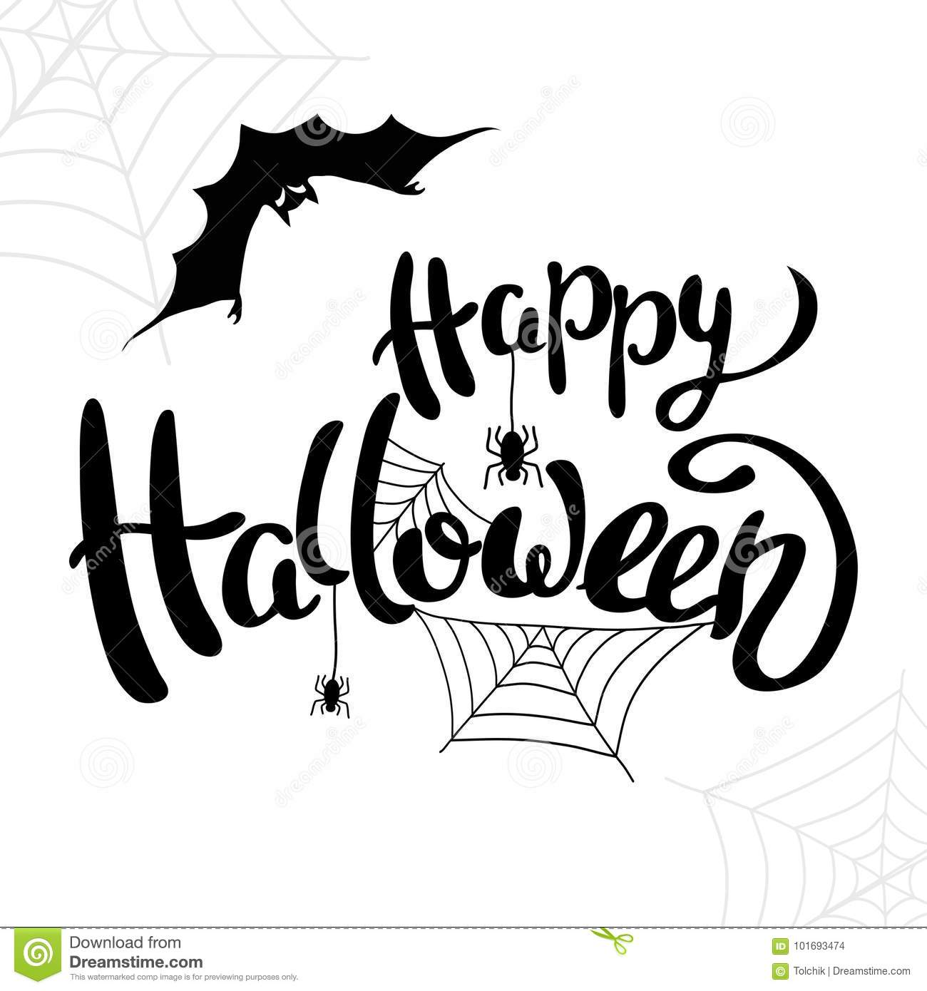 Happy Halloween Template For Banner Or Poster Vector