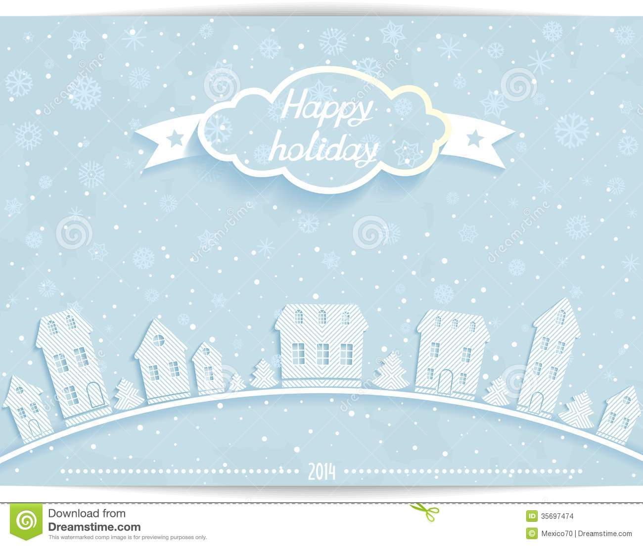 holiday card template free
