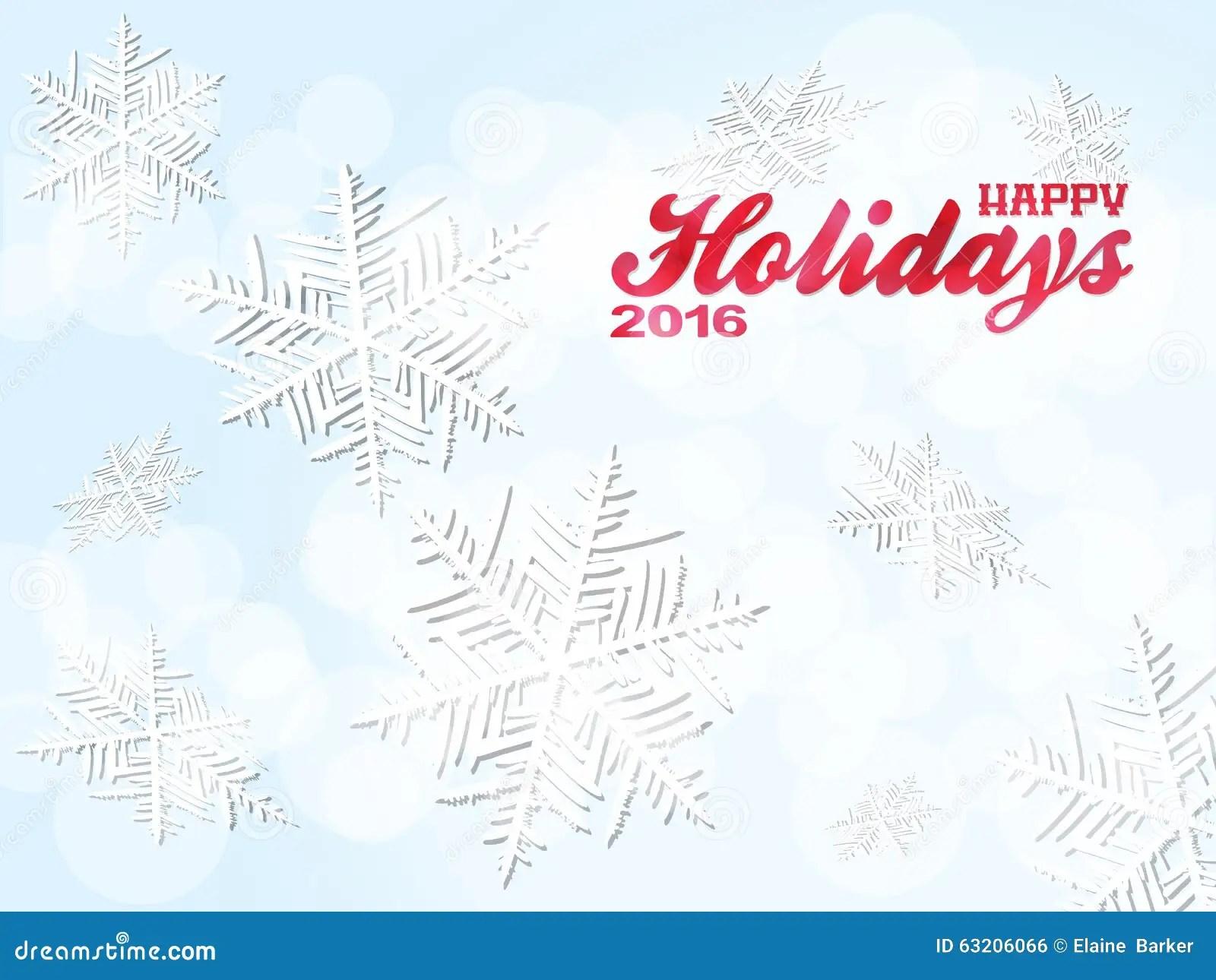 Happy Holiday Snowflakes Background Stock Illustration