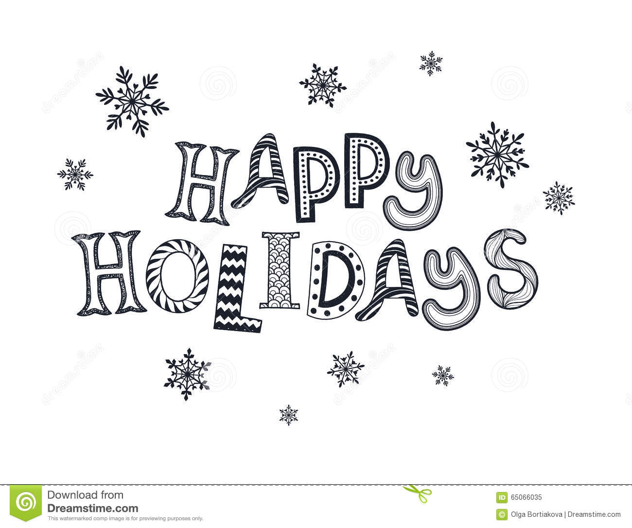 Happy Holidays Card Stock Vector Illustration Of