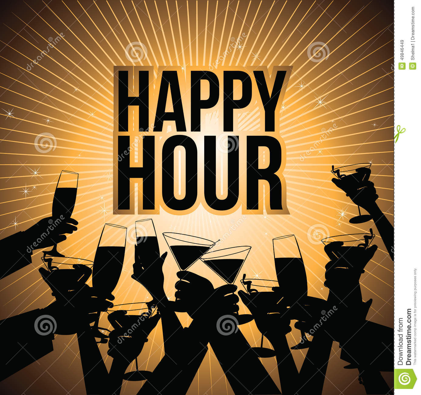 Happy Hour Beer Background Royalty Free Illustration Stock