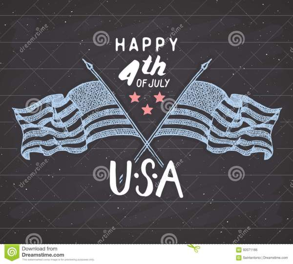 Happy Independence Day Fourth Of July Vintage Greeting