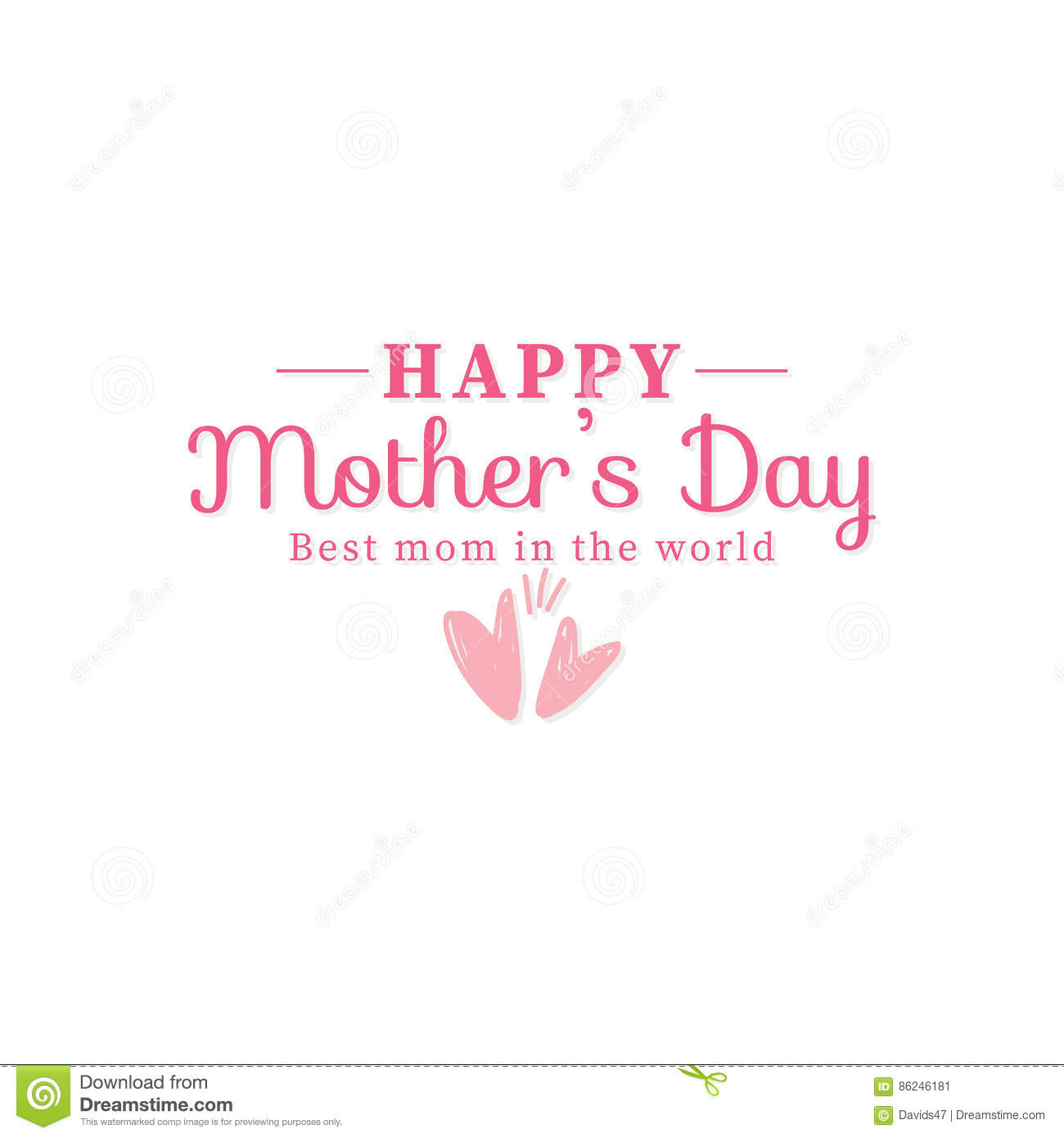 hight resolution of abstract mother day label on a white background