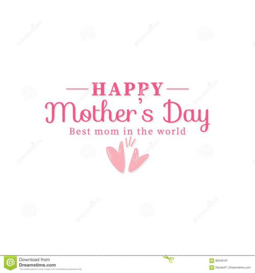 small resolution of abstract mother day label on a white background