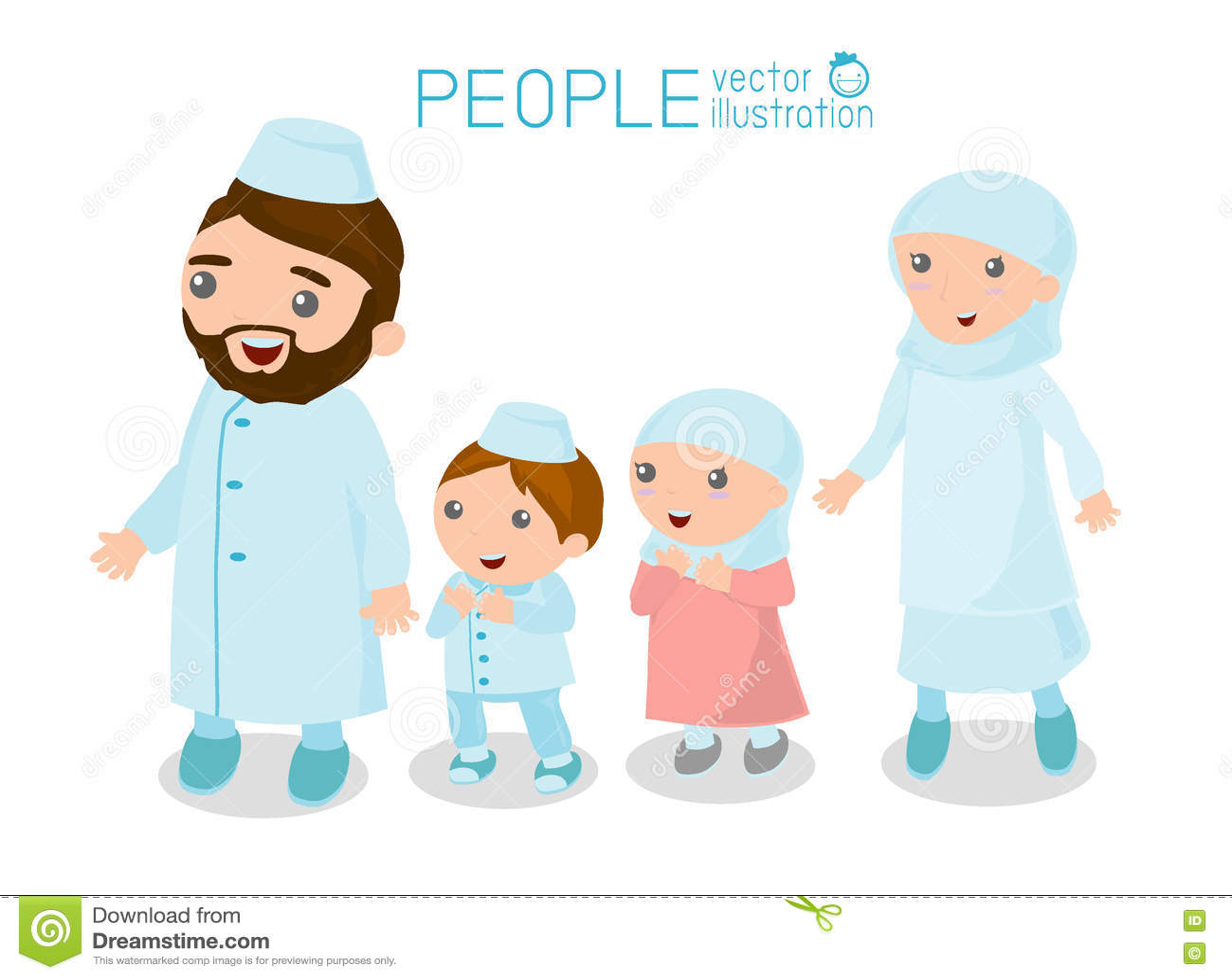 Gambar Kartun Muslim Family  Gambar Kartun