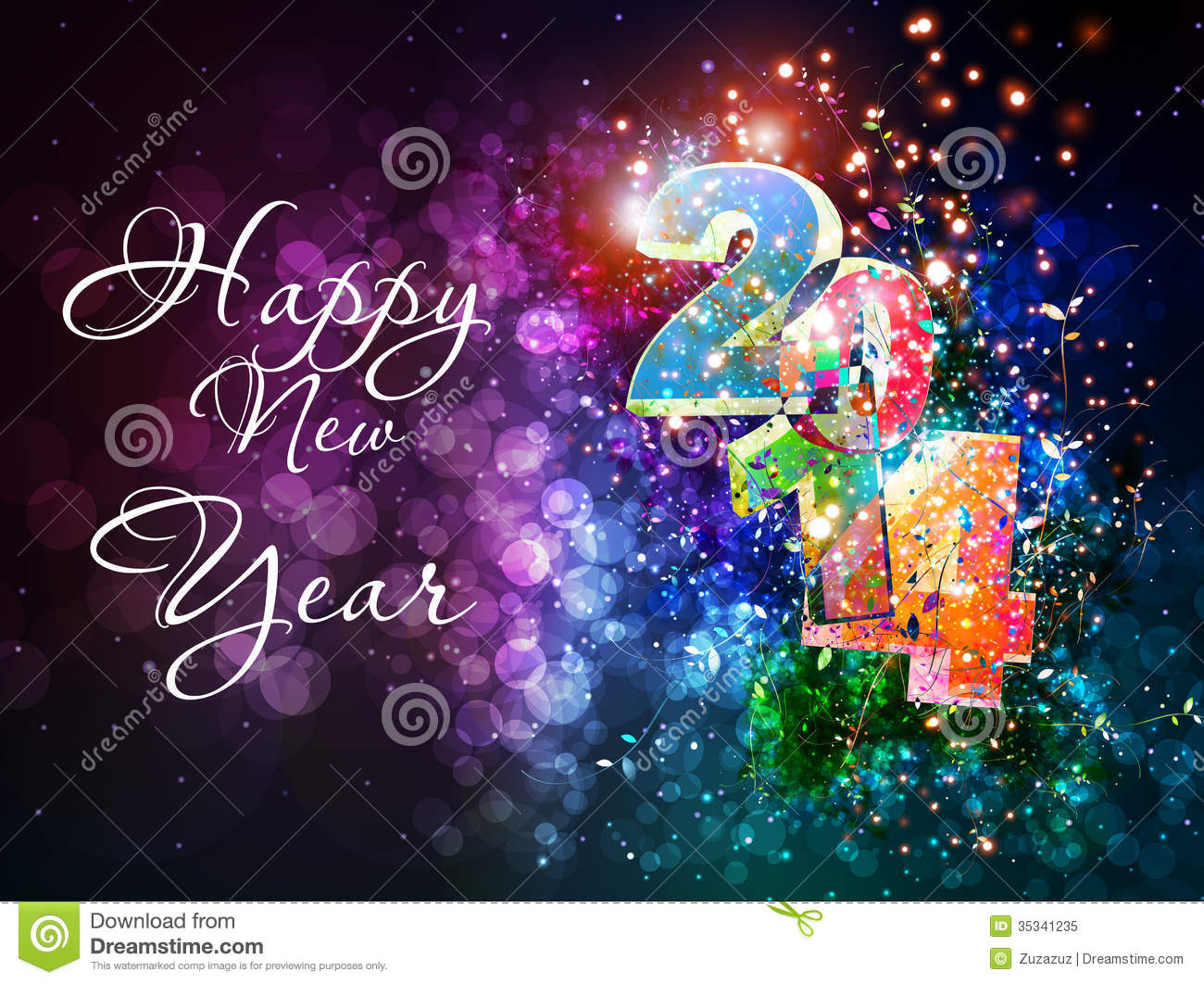 Happy New Year Royalty Free Stock Photo Image 35341235