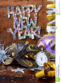 Happy New Year Party Decorations. Stock Photo - Image ...